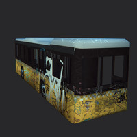 Wrecked city bus