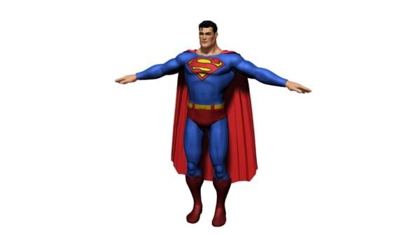 superhero superman rigged character ma