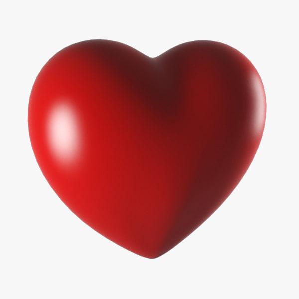 3ds cartoon heart
