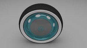 beetle wheel 3d model