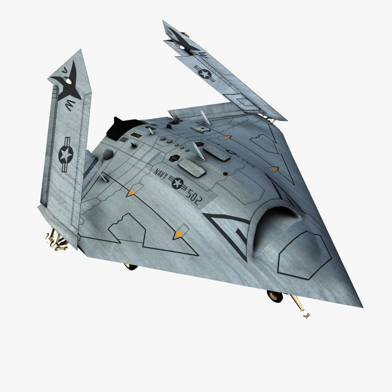 3d model unmanned x47b