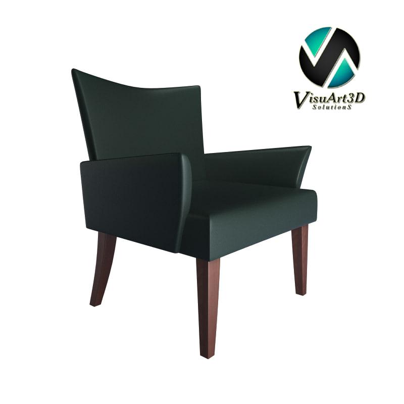 modern club chair 3d model