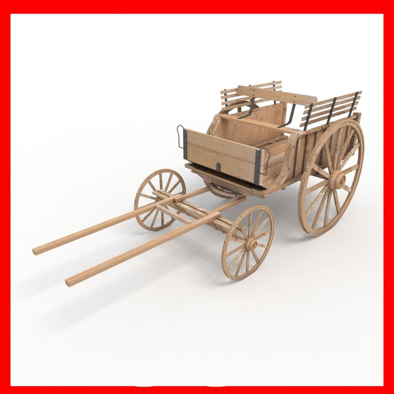 old cart 3d 3ds