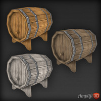 Low Poly Cask