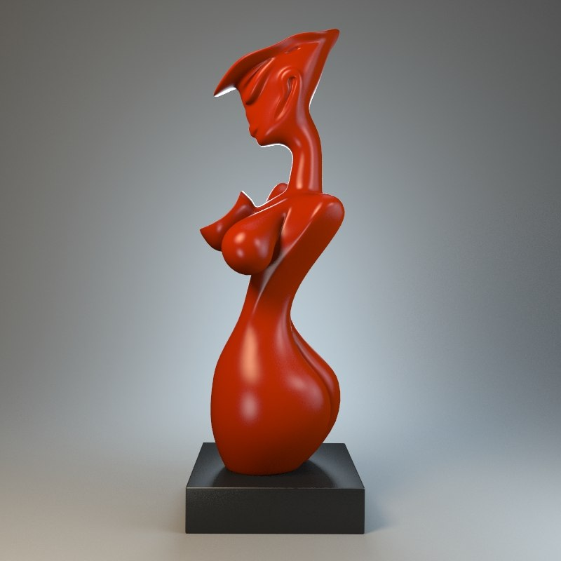 3ds max nude sculpture