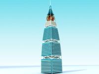 skyscraper riyadh saudi 3d model