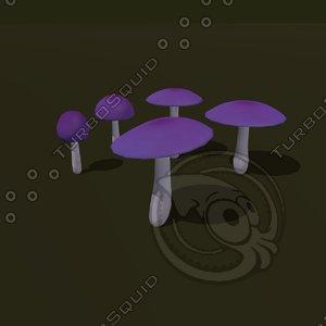 3d 3ds mushroom cartoon