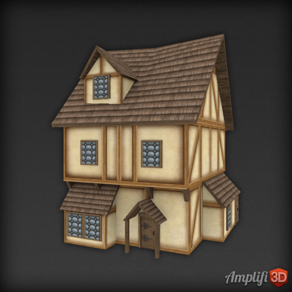 3dsmax medieval house