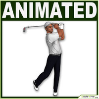 White Golf Player CG