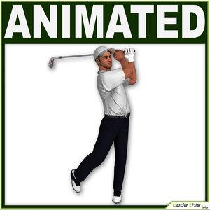 obj golf bag player cg