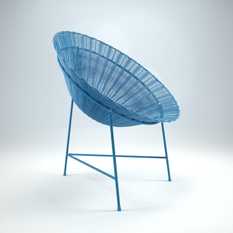 Circle Chair Straw Model
