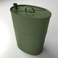 portable oil tank 3d 3ds