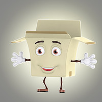 cartoon box 3d max