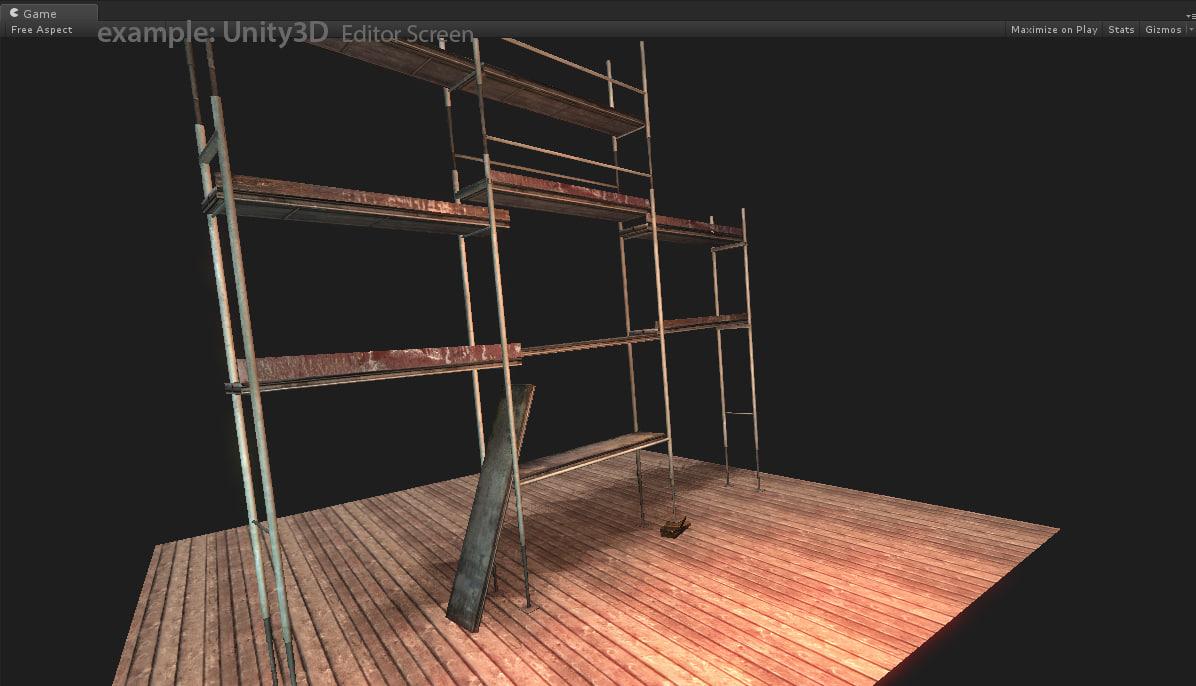 3d model scaffolding unity3d