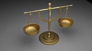 scales justice 3d max