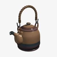 teapot rigged handle obj