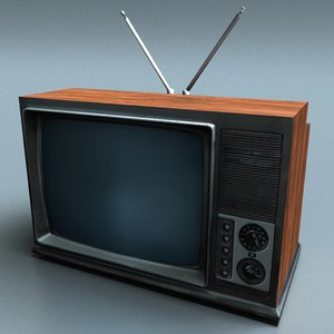 vintage tv 3d max