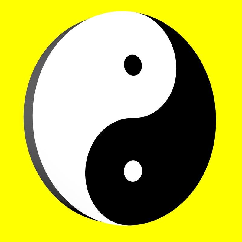 free yin-yang symbol 3d model