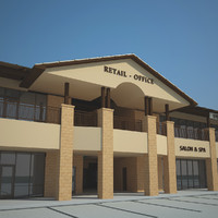 retail office building 3d max