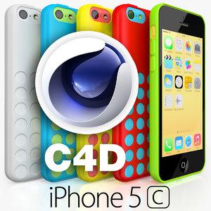 apple iphone 5c 3d obj