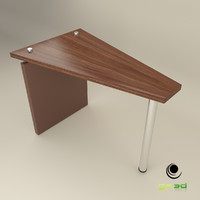 obj office wedge table