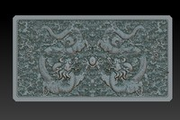 Qing Dynasty dragon drawer fronts