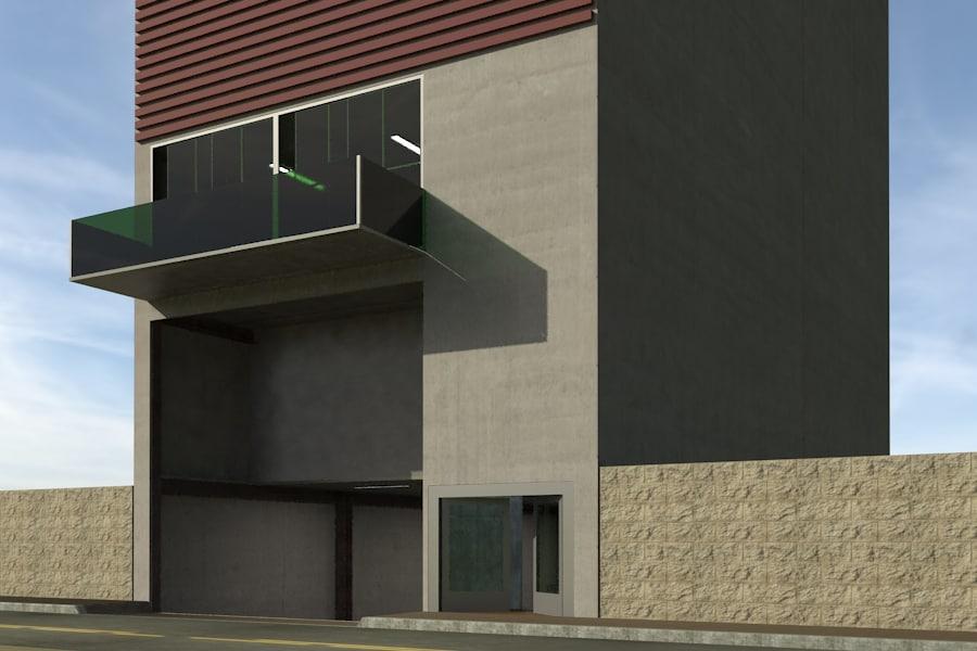 multi level parking 3d model