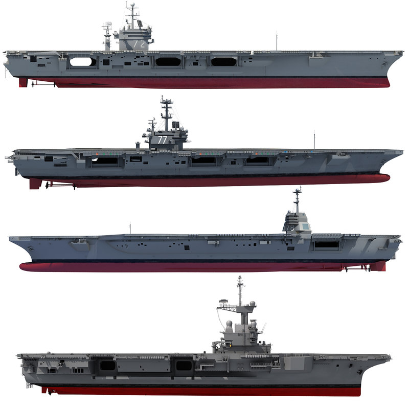 3d uss abraham george model