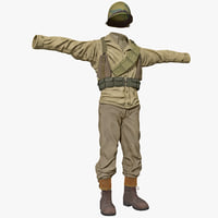 American WWII Infantry Soldier Clothes 2