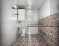 3d bath wc scene interior model