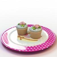3d model cupcake 018