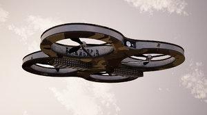 3d quadcopter propellors