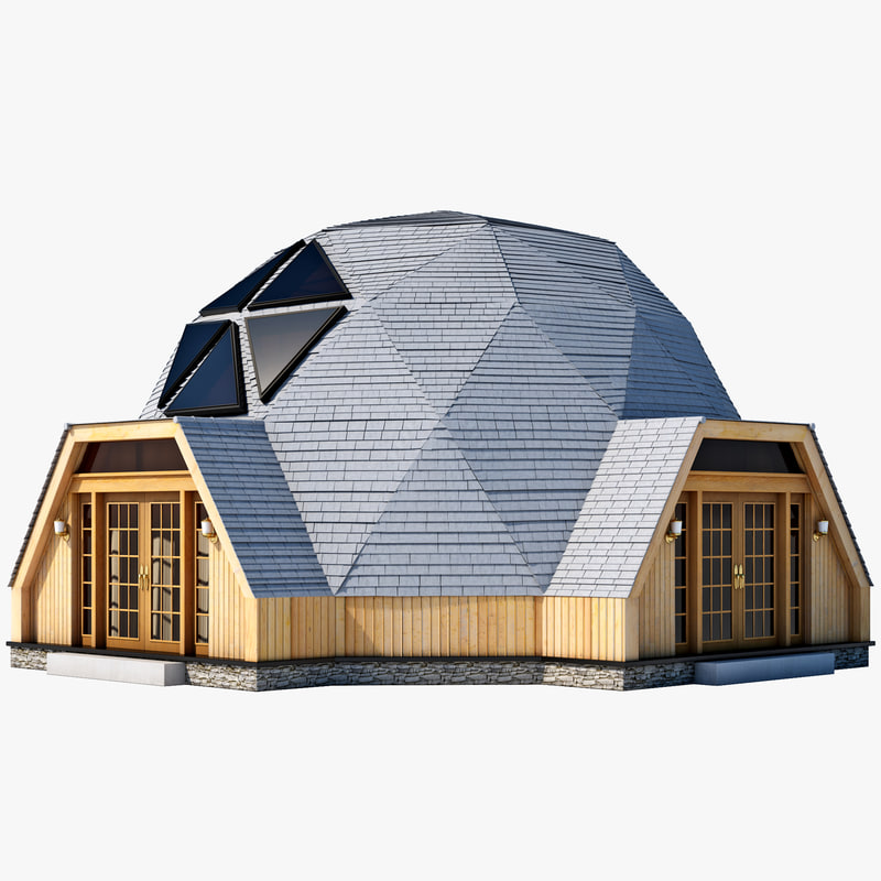 Geodesic Dome House C4d