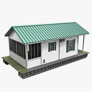 3d model house boat