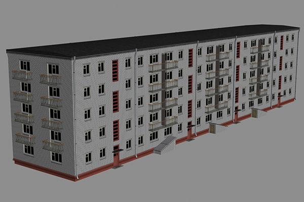 3d model house bricks04