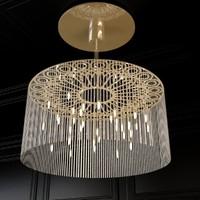 ngoma drum chandelier 3d max
