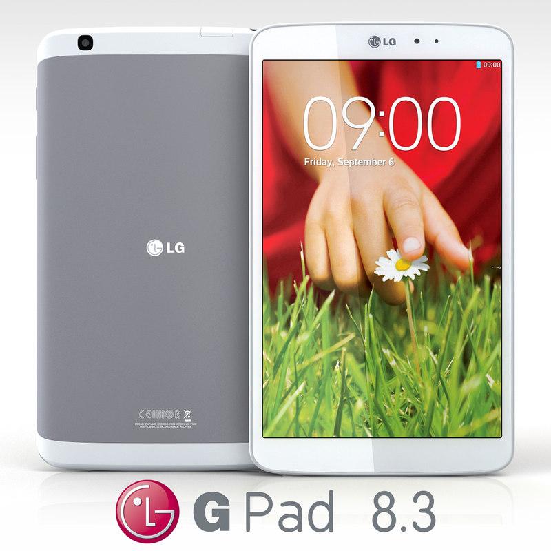 3d lg g pad 8 model