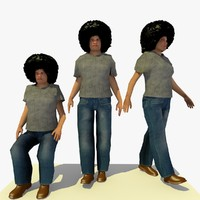walking african male c 3d model