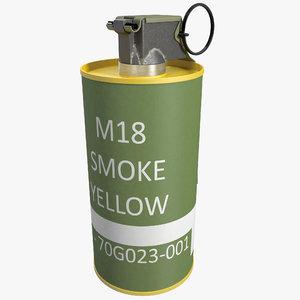 m18 smoke grenade 3d model