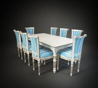 moletta chair table 3d max