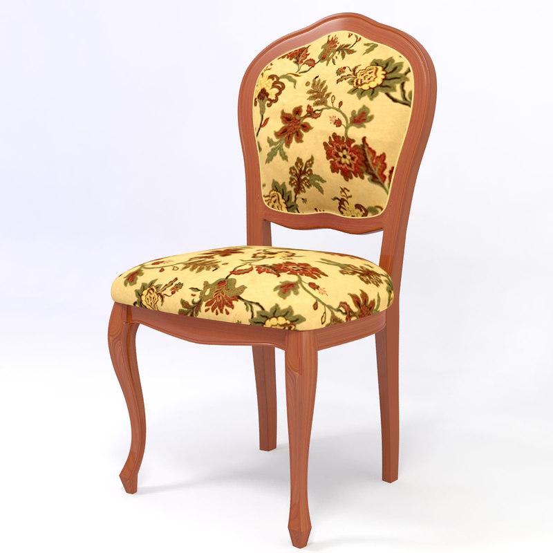 3d model of modern classic chair