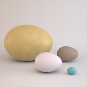 3ds max assorted eggs