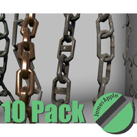 3d set 10 chains ready model