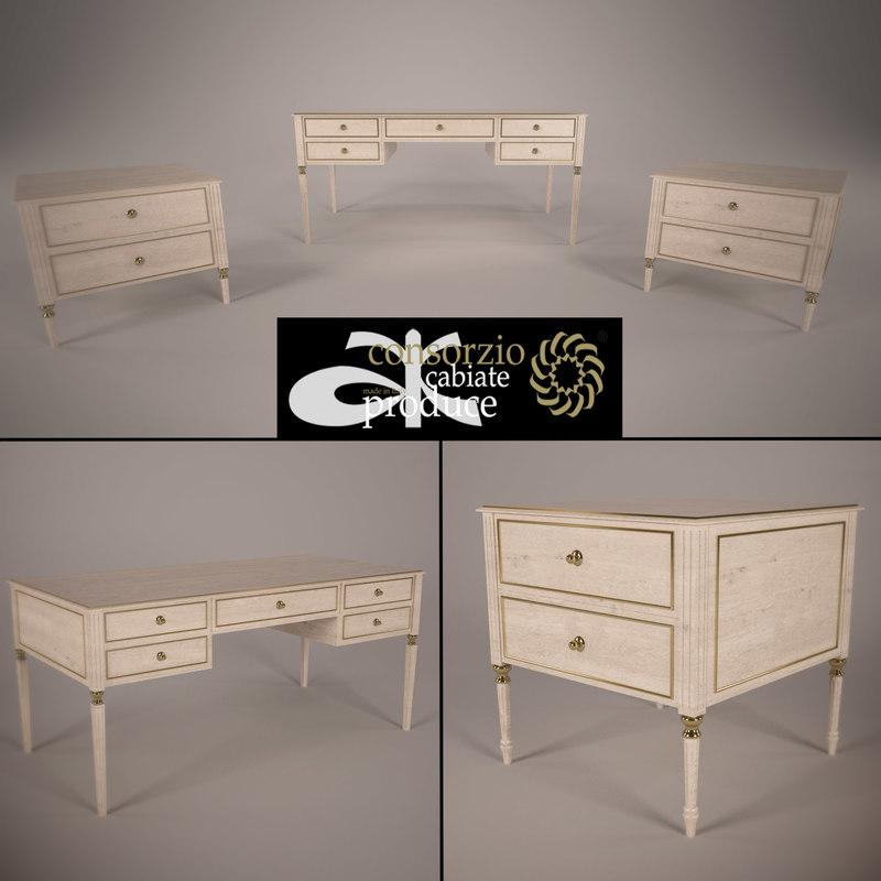 table bedside 3d model