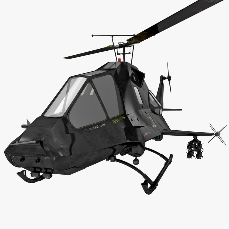 3d model stealth helicopter 2