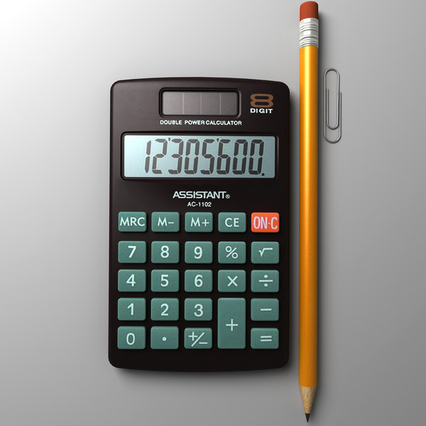 max calculator pencil