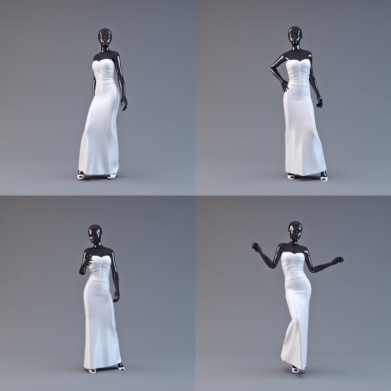 showroom mannequin 06 3d model