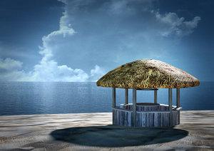 3d model beach bar