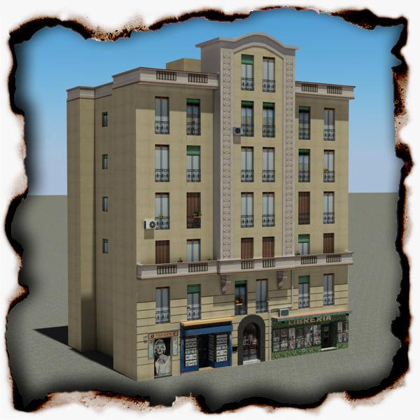 3d building 101 model
