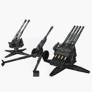 3d war cannons